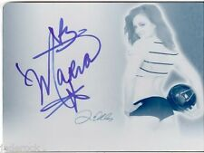 Maria Kanellis 2011 Benchwarmer Soccer Auto Blue Ink Printing Plate 1/1 WWE Diva