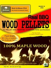 Bob Grillson USA**100% MAPLE WOOD* BBQ Pellets* ALWAYS LOOK FOR 100% STATED WOOD