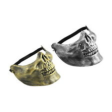 Skull Skeleton Airsoft Game Hunting Biker Half Face Protect Gear Mask Guard F5