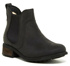 UGG Australia Bonham Black Water Resistant Leather Boot Size 5 New In Box $150