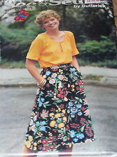 BUTTERICK #5953 - LADIES RETRO PEASANT STYLE TOP & DIRNDL SKIRT PATTERN 12-16 uc