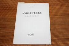 LES EDITIONS DE MINUIT ANGLETERRE D'ALCUIN A HUXLEY , ARGONNE NUMEROTE 1945