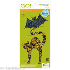 AccuQuilt GO! & Baby Fabric Cutter Cutting Die Cat & Bat 55365 Quilting Applique