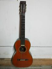 Vintage c.1915 Harwood Brazilian Rosewood Parlor Acoustic Guitar
