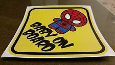 BABY ON BOARD SPIDERMAN BABY CHIBI Warning WINDOW DECAL STICKER VINYL