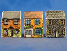 Birchcroft Thimbles -- Set of Three -- Miniature House Shape -- Country Cottages