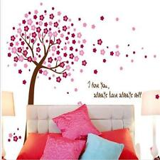 Pink Cherry Blossom Vine Tree Wall Stickers Kids Baby Nursery Room Decal Decor Q