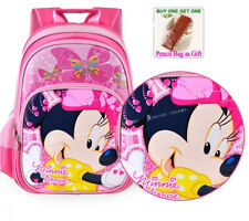 Disney Mickey Minnie School Bags for Grades 1-3 Children Girls Backpack Knapsack