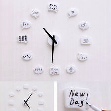 Creative DIY Wall Clock Home Decor Stickers Draw by Yourself Adhesive Watches