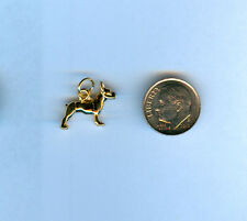 Boston Terrier 24kt Gold Plated 3D Dog Charm