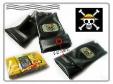 ONE PIECE GUANTI GLOVES NERI PIRATA COSPLAY RUFY BANDIERA ZORO ACE NAMI CHOPPER