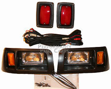 Club Car Golf Cart Headlight and Tail Light Kit with Adjustable Beam DS 1993-Up