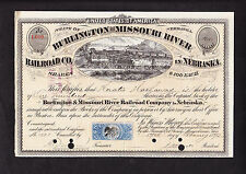 Berkshire Hathaway Founder Signed Railroad Stock