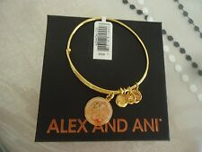 Alex and Ani PATH OF LIFE ART INFUSION Bangle Yellow Gold New W/ Tag Card & Box