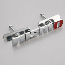 Bolt on 3D Metal CHROME Red NISMO Front Emblem Badge For Grille Billet