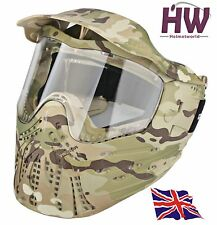 AIRSOFT PAINTBALL MC MULTICAM CAMO MASK ANTI FOG FULL FACE UK