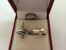 LOT OF 3 STERLING SILVER TOE RING MADE IN USA  SNAKE, PLAIN, CELTIC