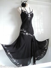 Vintage 1920s Drop Waist Floral Deco Bead Sequin Charleston Flapper Gatsby Dress