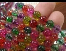8mm Multicolor AAA Tourmaline Round GEM Loose Beads 15inch