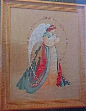 VICTORIAN ANGEL HOLDING BABY Counted Cross Stitch Chart