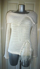 ALBA CONDE Sexy Cream Open Knit Jumper  Details Size M/L New Tags Cost £229