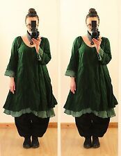 GREEN FLOATY FAIRY LONG TUNIC DRESS Plus Size 16 18 20 22 Gothic Lagenlook Baggy