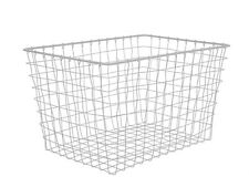 Basket Linea by Present Time Large Grey Wire Storage Basket