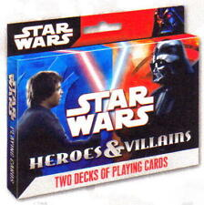 STAR WARS Sci-Fi Movie Lucas Films Heroes and Villains 2 DECKS of PLAYING CARDS