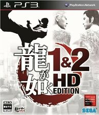 USED PS3 Ryu ga Gotoku 1&2 HD Edition SEGA GAMES Yakuza Japan Import