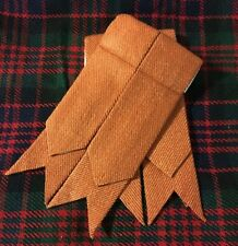 Men's Scottish Kilt Sock Flashes Irish Saffron/Kilt Flashes Saffron Tartan