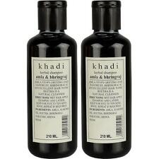 Khadi Herbal Amla and Bhringraj Shampoo SLS & Paraben Free , 210ml Hair Growth