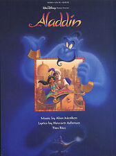 Aladdin Disney Vocal Selections Learn to Sing PIANO Guitar PVG Music Book