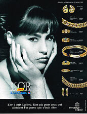 PUBLICITE ADVERTISING 074  1989  LE MANEGE A BIJOUX   E. LECLERC L'OR