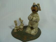 American Chestnut Folk Art Bunny Bear Petey Rabbit 2000 Edition Figurine