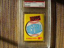 1960 TOPPS WAX PACK PSA GRADED 7