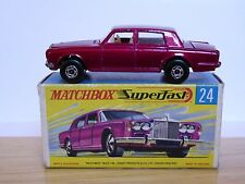 Matchbox 24c Rolls-Royce Silver Shadow 'G2' SF End Flap Box (MET GREEN BASE)