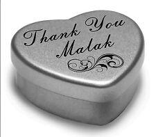 Say Thank You Malak With A Mini Heart Tin Gift Present with Chocolates