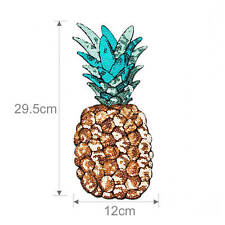 Sequin Pineapple Patch Embroidered Iron on Applique for clothing backpack Hat