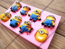 UK Cute 3D Minions Silicone Fondant Mold Cake Decorating Chocolate Baking Mould
