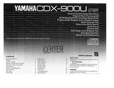 Yamaha CDX-920 CD Player Owners Manual