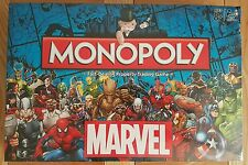 MARVEL UNIVERSE 2016 EDITION MONOPOLY BOARD GAME - SLIGHT CRUSH ON BOX CORNER.