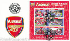 Arsenal (Double) - Premiership Football Commemorative Stamp Sheet from Grenada