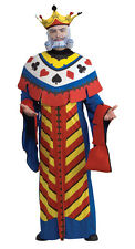 ADULTS MENS DISNEY ALICE IN WONDERLAND PLAYING CARD KING COSTUME - LARGE