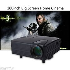 MINI portatile Full HD LED Videoproiettore Video Home Cinema Theater VGA USB SD AV NUOVO