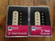 Seymour Duncan SH-4 JB And SH-1N 59 Model 4C Wire Humbucker Pickup Set Zebra New