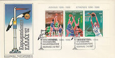 (16830) Cover Greece Basketball Minisheet 1987