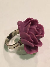New Tarina Tarantino Flower Picker Purple Rose Adjustable Ring
