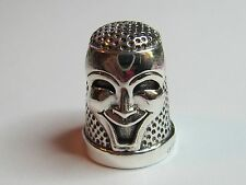 COMEDY & TRAGEDY MASK  STERLING SILVER THIMBLE  - NEW (LAST ONES LEFT!!)