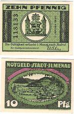 Germany 10 Pfennig 1921 Notgeld Jlmenau UNC Uncirculated Banknote