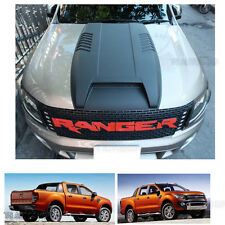 Matte Black Hood Scoop Bonnet Cover For Wildtrak Ford Ranger Mk1 Px 2012-2014